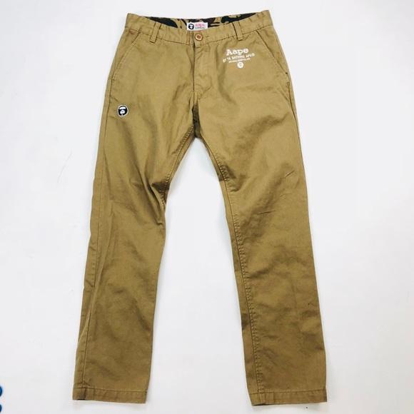 Bape Other - Aape By A Bathing Ape Khaki Pants Men s Size 30x29 14a73924f